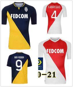 20-21 AS Monaco Soccer Jerseys BEN YEDDER JOVETIC GOLOVIN Football Shirt 20 21 maillot Flocage JORGE white Men+Kids Kit Uniforme d'équipe