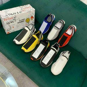 Дизайнеры Sorrento Sneaker Unisex Thibs вскользь тренажеры мужская ткань растягивающаяся джерси скольжение на кроссовки резина дышащая любовь семья повседневная обувь