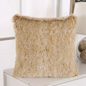 Soft Fur Plush Cushion Cover Pillowcase Home Decor Pillow Covers Living Room Bedroom Sofa Decorative Pillows Cover 43x43cm New GWF5133