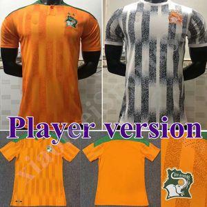 2020 2021 Versione del giocatore Cote D Ivoire Soccer Jerserys Coast Avorio Drogba Kessie Zaha Cornet Uomo Casa Maillot deley Football Uniformi uomo