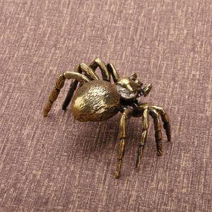 2.36 en 64 g Vintage | Laiton | Tea Pet Ancienne Figurine Figurine Statue Accueil Décor Copper Ornement Tea Pet Antique Spider