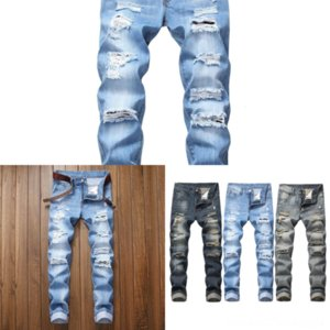 FSL1I BILLIONAIRE Jeans Cowhide winter thick man jeans skinny fit Comfortable embroidery cotton fashion zipper new men high quality big