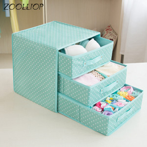 Underwear Bra Organizer Storage Box Multi Colors Drawer Closet Organizers Boxes For Underwear Scarfs Socks Bra Y1130