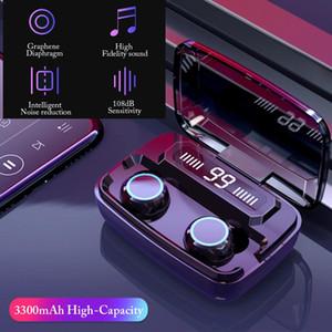 슈퍼 품질 무선 헤드폰 M11 TWS 블루투스 5.0 이어폰 노이즈 감소 HIFI IPX7 방수 스포츠 헤드셋 3300 MAH