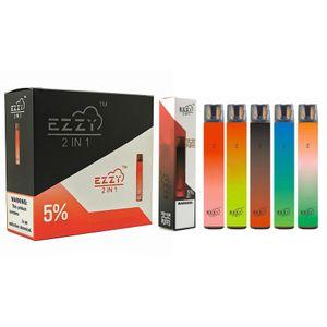 Original Ezzy Super 2 in 1 elektronischer Zigarettenentwurf Einweg-Vape 900mAh-Batterie 6.5ml Pod 2000 Puffs PK Air BAR LUX KANGVAGE ONEE