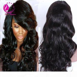 "Virgin Brasileño Body Wave Desplelable Hair Human U Parte Wigs Remy Human Hair Toot WIG con flequillo lateral en forma de u forma 1 ""x3"" Openning"