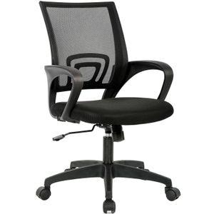 Chaise de bureau à domicile Chaise de bureau ergonomique maille Chaise d'ordinateur avec support lombaire