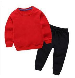2021 New Baby Boys Girls Tricksuits Kids Sportswear Conjuntos de dos piezas Primavera Autumn Boys Girls Ropa Sets Niños Trajes infantiles