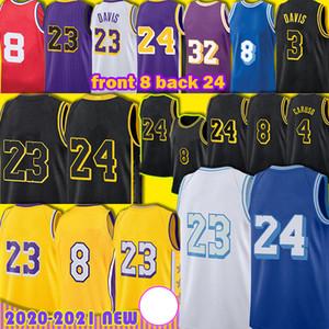 Los 23 6 Alex 4 Caruso Angeles Anthony Anthony 3 Davis Basketball Jersey 8 24 33 Kyle Lower Merion Kuzma Black Mamba 32 Uomo giovanile S-XXL