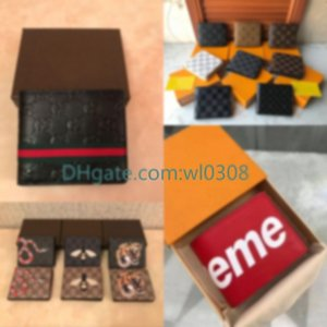Top High Quality Lwallet Paris Plaid Style Designer Mens Wallet Wallet Wallet S Diseñador de alta gama C Monedas con caja de aire libre 66