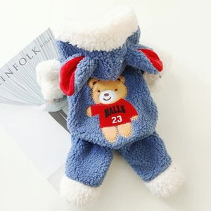 Winter Dog Clothes Little bear Pets Outfits Warm Clothes for Small Dogs Cat Costumes Coat Jacket Puppy Sweater Dogs Chihuahua 201127