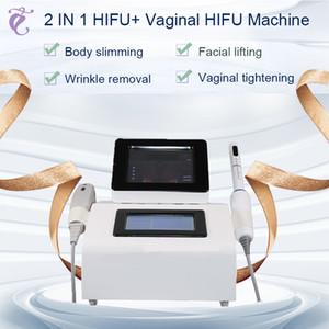 New 2 in 1 hifu machine Vaginal Tightening women private rejuvenation tightening tool spa equipment free shipment CE