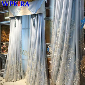 Fairview Romantic Embroidered Tulle French Luxury Curtain for Living room Bedroom Window Screen Exquisite White Lace Gauze M2013