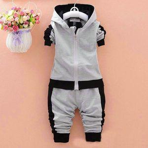 Toddler bebê meninos meninas marca ternos crianças jaqueta de esportes + calças 2 pçs / sets conjunto de roupas kids racksuits