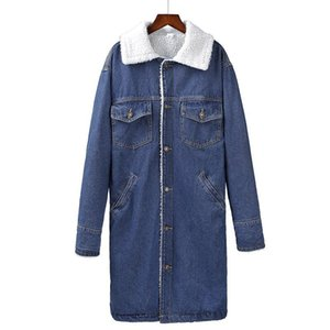 Female jacket Warm winter Denim jacket for Women 2020 Men And Women Coats Wool lining jean Coat Bomber jackets basic tops