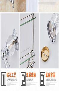 Crystal Solid Blass Bath Hardware Sets Chrome Silver Baño Accesorios de Baño Electroplate Toalla Rack Titular de Cepillo de Inodoro BBYFSS MJ_BAG