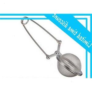 Atacado Solta Primavera de Aço Inoxidável Colher Tea Bola Infuser Filtro Teaspoon Squeeze Filtro de Casamento Favor Presente Frete Grátis