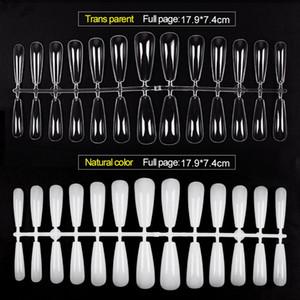 260pcs Tips Transparent Full Cover False French Nail Art Artificial Acrylic Gel UV Manicure Design Set DIY Tool 0440