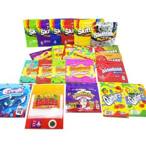 Skittles Embalagens Comestíveis Personalizado Mylar Bag 3.5g Smell Proof Stoneey Patch Edible Gummies 500mg Embalagem