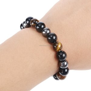 Fashion Health beads bracelet Natural stone tiger eye bracelet women mens bracelets fashion jewelry will and sandy gift