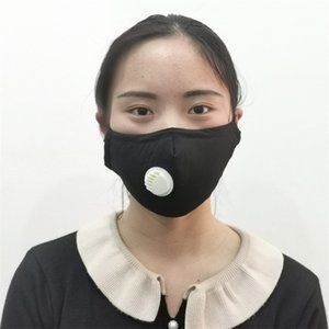 Mascarilla ajustable adulta Mascherine Larrop Foldable respiradores anti pm2.5 Mascarillas de la boca Paño Reutilizable Válvula de respiración Reemplazar 7