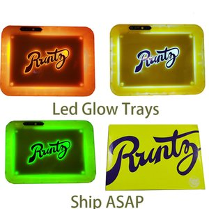 Glow Trays Runtz LED Glow Trays Rolling Tray Cookies Glow Tray Dry Herb Holder USB Rechargeable Alien Labs Rolling Trays Instock 28*20.8*3CM