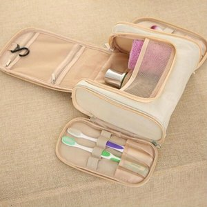 Hand Wash Bag Travel Cosmetic Bag Bathroom Hanging Makeup Products Organizing Waterproof Double Open Storgage