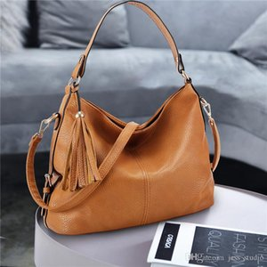 Handbags ladies bag shoulder messenger bag fashion trend large capacity litchi pattern simple travel free shipping