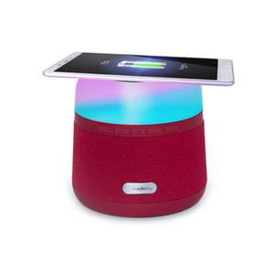 High Quality Wireless Charging LED Night Light Wireless Charger Waterproof Bluetooth Speaker Can Plug In TF Card Wireless Super Woofer
