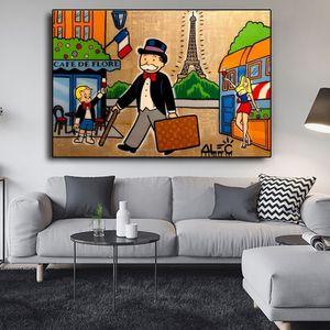 Alec Graffiti Pop Art Tuval Boyama Karikatür Figür Poster Baskılar Duvar Sanat Resimleri Duvar Oturma Odası Çocuk Odası Ev Dekorasyon Için
