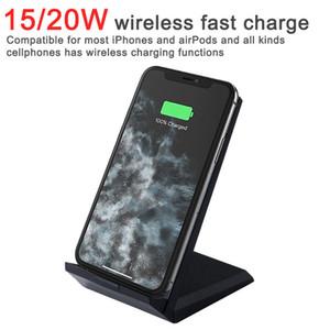 20W QI 무선 충전기 접이식 스탠드 홀더 아이폰 11 Pro XR X XS 최대 삼성 S20 S10 USB C 빠른 충전