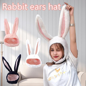 40# Hat Ears Party Hats Holiday Hat Cute Girls Plush Ears Earflap Cap Head Warmer Costume for Men and Women