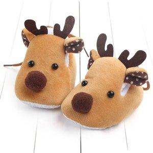 2020 зима теплая Первый ходунки новорожденный Baby Boy девушка Рождество шпаргалки обувь мягкой подошвой противоскользящим кроссовки мягкие ботинки 0-6m