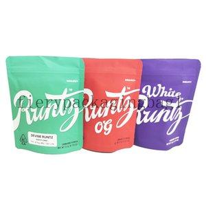 2021 New Hot Sale Mylar Runtz Bag Zipper Bag 3.5g White Runtz Packing for Dry Herb Tobacco Flower