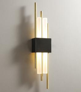 Light  full copper wall lamp living room bedroom lamp modern minimalist corridor aisle wall light