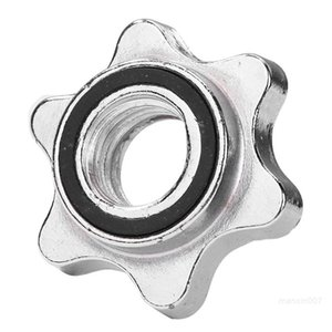 Standard Sports Hexagon Round Nut Barbell Bar Solid Steel Spin-lock Collars Clamps Dumbell Accessory