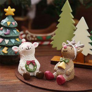 Resin Mini Figurine Christmas Santa Claus Resin Toys DIY Garden Ornament Craft Kids Toys Gifts Wholesale GWF3676