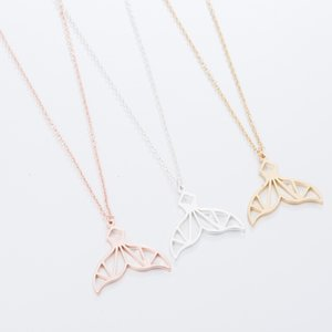Stainless Steel Mermaid Tail Pendant Necklace Earring Set for Women High Quality Trendy Gold Silver Chain Charm Fashion Jewelry