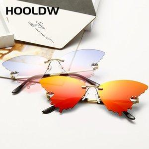 Солнцезащитные очки 2021 старинные бабочки женщины мода без огня огненный пламен солнцезащитные очки трендовые вечеринки кошка глаз зеркало очки UV4001