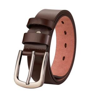 2020 Manufacturer direct selling leather belt men's business casual pants jeans cowhand belt buckle belt wholesale 130cm