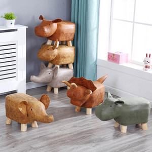 Animal Shaped Storage Ottoman Padded Cushion Ride-on Footrest Stool Rest Seat US UK RU AU CN J1204