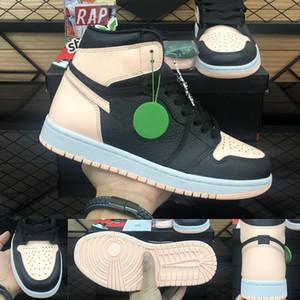 Jumpman 1 أحذية كرة السلة ألعاب القوى حذاء رياضة الاحذية للنساء الرياضة الشعلة هير لعبة الملك الملكي الصنوبر الأخضر المحكمة مع مربع 36-47 الحجم