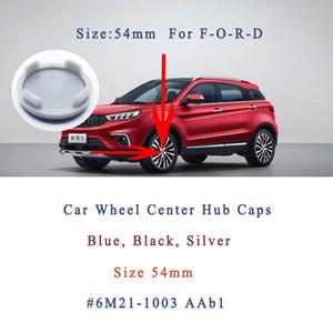 포드 자동차 허브 캡 센터 커버 직경 54mm ABS 휠 허브 캡 로고 커버 포드 용 4pcs