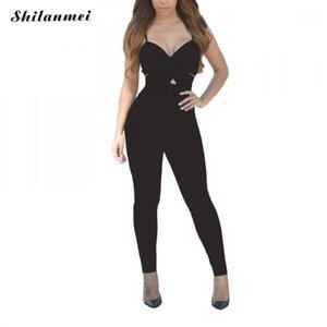 SHILANMEI Noir V elf Body Body Body Sexy Skinny Skinny Bodysuits sans manches Femmes Automne Sling Bodysuits minimalistes1