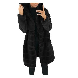 top selling 2020 Womens Faux-Fur' Gilet Long Sleeve Waistcoat Body Warmer Jacket Coat Outwear Support Wholesale and Dropshipping LJ201203