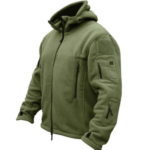 HAN WILD Winter Airsoft Military Jacket Men Fleece Army Tactical Jacket Thermal Hooded Jacket Coat Outerwear Hoody Mens Clothing 201124