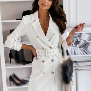 3XL Autumn and Winter Long Sleeve Belt Color Coat Woman Jacket Suit Blazer Office Lady Colorful Blazer Jacket for Women Blazers