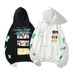 Plus Sweats à capuche pour hommes de mode 2 Couleur X Imprimé Black Blanc Hoodie Unisexe Femmes Casual Harajuku Pullovers Streetwear Sweat à capuche