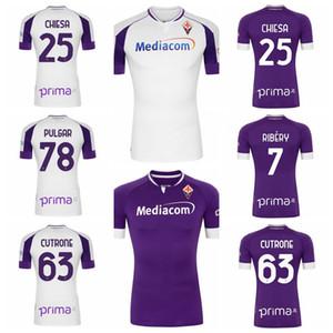 20-21 Fiorentina Soccer Jersey Chiesa Pulgar Vlahovic Milenkovic Kouame Dalbert Castrovilli Cuttrone Lirola Pezzzella Football Shirt Kits