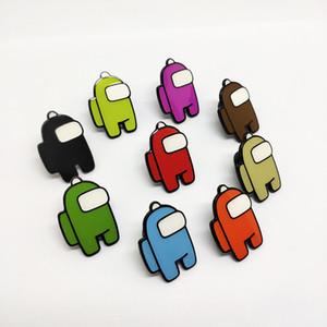 200pcs 10 styles jeux chauds parmi les touches de cadeau colorées de clé US acrylique pour clés de voiture Accessoires de décoration 5cm * 3cm AIR11 FY7332